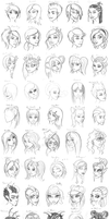 50 Face Project by ThestralWizard