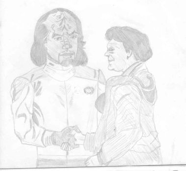 WORF AND MUM by luc