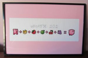 Kirby Math 101 cross stitch project by Lileya-Celestie