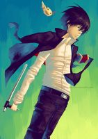 Hibari up there by Celsa