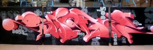 Pink Elephant (3x160x260cm 2013) by spoare153