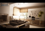 Living room and Home Office. by davibaixo