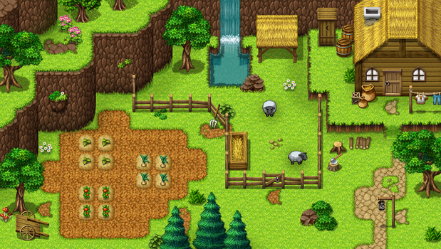 Farm and Nature tiles by PinkFireFly