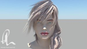 Female Face Study 3D Model by ThomasBrettRussell