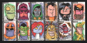 2013 Marvel Fleer Retro sketch cards 049-060 by thecheckeredman