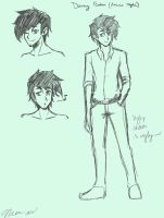 Danny Fenton (anime style) by MESS-Anime-Artist