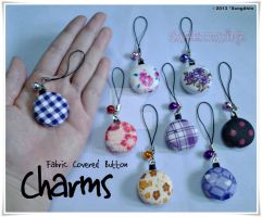 Fabric Covered Button @ Charms by SongAhIn