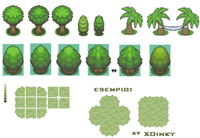 tiles by XDinky - trees by XDinky