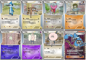 Regular Show Pokemon Cards! by satansleghairs