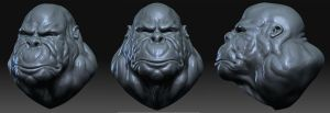 Ape sculpt by atlantiz15