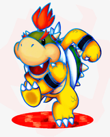 Bowser Jr - Dream Team Style by NeoZ7