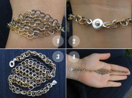 Chain-Chain Mail Bracelet by MotorKat