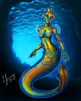 Mandarin Fish Mermaid by Candy-Janney