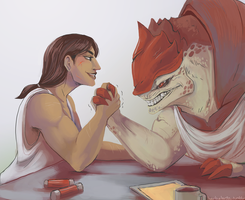 what's the matter, wrex? by edface