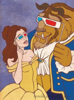 3D Beauty and the Beast by Wowiie