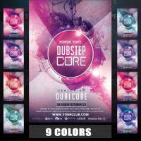 DUBSTEP CORE FLYER TEMPLATE by MCerickson