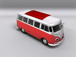 VW Kombi HDRi Test Render by FluffyBlueCow