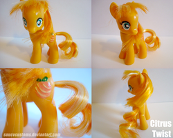 Citrus Twist - Custom Pony by saucycustoms