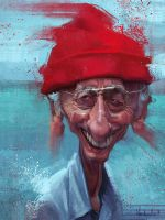 Jacques-Yves Cousteau by creaturedesign