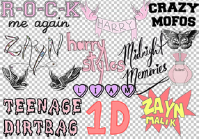 1D Overlays by IloveCute1220