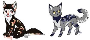 Collab Adopts: Day and Night|Auction (CLOSED) by UndergroundCat