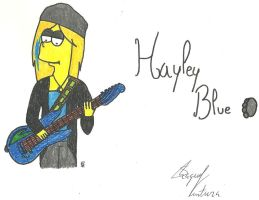 Hayley Blue*Playing the guitar by FamilyGayFanGirl