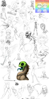 Huge Sketch Dump - 13 by AccursedAsche