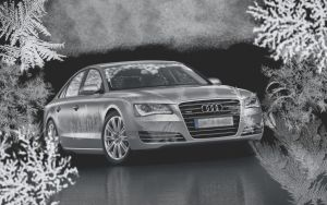 Audi A4 2.0 Winterholidays Wallp. by LightofShelley
