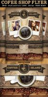 Coffee Shop Magazine ad or Flyer Template by Hotpindesigns