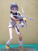 Papercraft FF7 Yuffie test build by ninjatoespapercraft