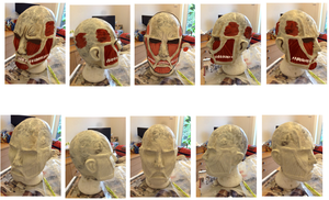 Colossal Titan mask mould!(need some help!!) by iovu