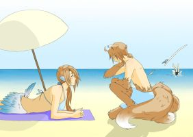 Beach Trip by TeaAndCoffee-Blend