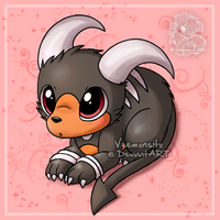 Chibi Houndoom by Veemonsito