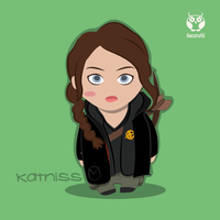 Katniss Everdeen by irenechapez