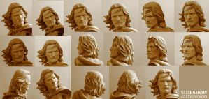 Mini Aragorn headsculpt by TrevorGrove