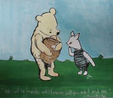 Winnie ther Pooh and Piglet Too by JWilsonArts
