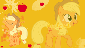 Applejack Wallpaper by Pink-Mist10
