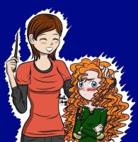 Penny and Merida age switch 2 - Art Request by Mangaka4eva