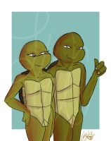 Double Trouble -TMNT- by lonesome-wolf-child