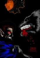 Gangrel vs. Werewolf by CreedStonegate