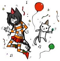 ME AND PARTY CAT by zukich