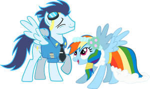 ''Soarin and Rainbow Dash'' by RainbowPlasma