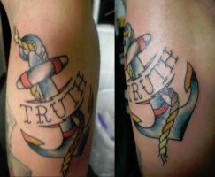 Traditional Anchor Tattoo by Joshua-Rowlands