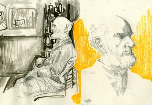 Study of a man by Emil-H