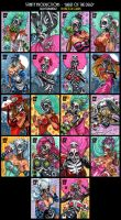 Sketch Cards - Babes of the Dead - 5finity by Axigan