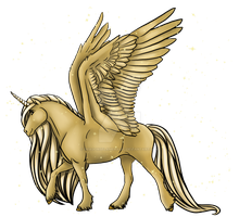 Closed! Draw to adopt Alicorn Adoptable gold dust by DragonsFlameMagic