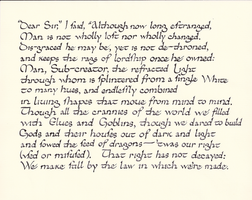 Calligraphy practice: a sonnet by J.R.R. Tolkien by studentofrhythm