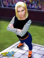 Android 18 tournament by Queen-Azshara