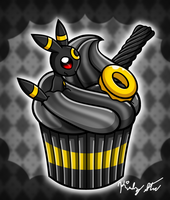 Cupcake Umbreon by drinkyourvegetable