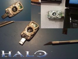"Halo: Cortana ""A.I. Chip"" USB by CrimsonStrife"